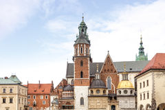 Fantastic autumn Krakow. The Wawel Cathedral in Poland Royalty Free Stock Image