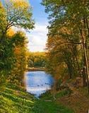 Fantastic autumn park Stock Images