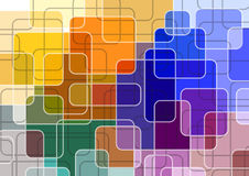 Fantastic background. Of the rectangles with rounded corners Stock Photo