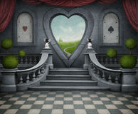 Fantastic background and door of heart. Stock Photography