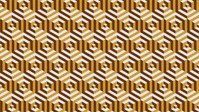 A magnificent background for a hexagonal-shaped group consisting of gold and brown, abstract geometric pattern. A fantastic background for a hexagonal set Royalty Free Stock Photos