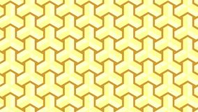 A magnificent background for a hexagonal-shaped group consisting of gold and brown, abstract geometric pattern. A fantastic background for a hexagonal set Stock Photos