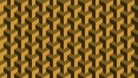 A magnificent background for a hexagonal-shaped group consisting of gold and brown, abstract geometric pattern. A fantastic background for a hexagonal set Stock Photography