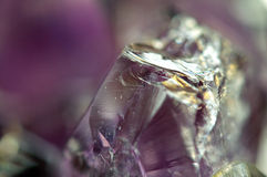 Fantastic background , magic of a stone. Crystal purple Royalty Free Stock Photo