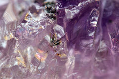 Fantastic background , magic of a stone. Crystal purple Royalty Free Stock Photos