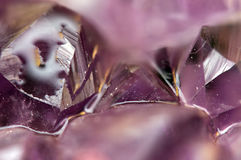 Fantastic background , magic of a stone. Crystal purple Stock Image