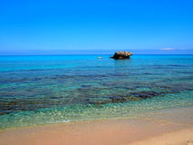Fantastic beach with blue sea Royalty Free Stock Photos