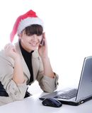 Fantastic, beautiful santa girl Stock Images
