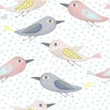 Fantastic birds pattern Royalty Free Stock Photos
