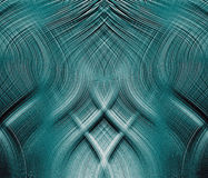 Fantastic blue interlocking threads. Of relief Royalty Free Stock Photos