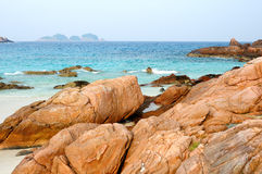 Fantastic blue sea Royalty Free Stock Photography