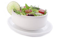 Fantastic bowl of spring salad Royalty Free Stock Images