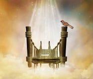 Fantastic bridge in the sky stock illustration
