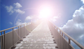 Fantastic bridge in the sky Royalty Free Stock Images