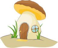 Fantastic brown mushroom Stock Images