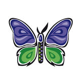 Fantastic butterfly. Butterfly Metamorphosis Rose. Vector illustration on a white background. Digital illustration Stock Photos