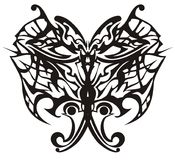 Vector illustration of tribal butterfly for adults coloring books Royalty Free Stock Photo