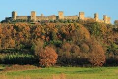 Fantastic Castle of Monteriggioni Stock Images