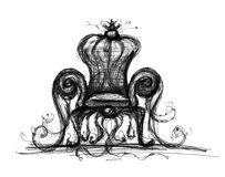 Fantastic chair. Drawing on a white background Royalty Free Stock Images