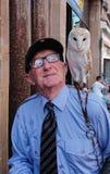 Nottingham owl man royalty free stock image