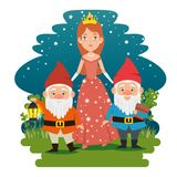 Fantastic character fairytale cartoon. Vector illustration graphic design Royalty Free Stock Images