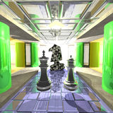Fantastic Chess Palace Royalty Free Stock Photos