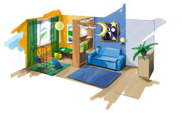 Fantastic children's room Royalty Free Stock Photos