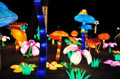 Fantastic Chinese Light Festival - Grasshopper. royalty free stock photo