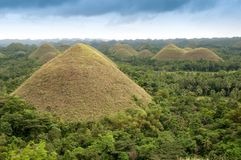 Fantastic Chocolate Hills At The Philippines Royalty Free Stock Photos