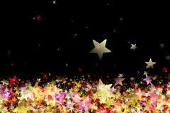 Fantastic Christmas design with glowing stars. In many colors Royalty Free Stock Photography