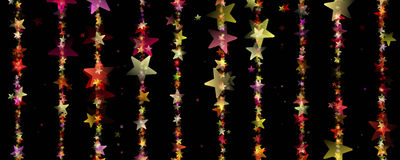 Fantastic Christmas design with glowing stars Royalty Free Stock Photos