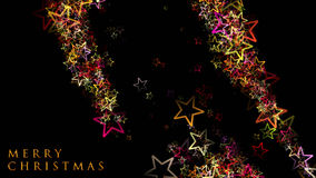 Fantastic Christmas design with glowing stars. And space for your text Royalty Free Stock Photos