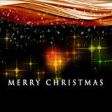 Fantastic Christmas wave design Royalty Free Stock Photo