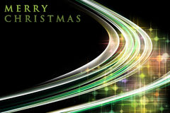 Fantastic Christmas wave design with glowing stars Stock Photo