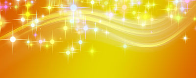 Fantastic Christmas wave design with glowing stars Royalty Free Stock Photos