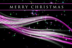 Fantastic Christmas wave design with glowing stars Stock Images