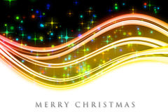 Fantastic Christmas wave design with glowing stars Royalty Free Stock Image