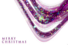Fantastic Christmas wave design with glowing stars Stock Image