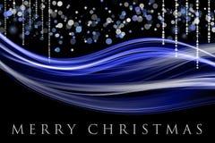 Fantastic Christmas wave design Stock Photo