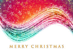 Fantastic Christmas wave design Stock Photography