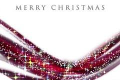 Fantastic Christmas wave design Stock Images