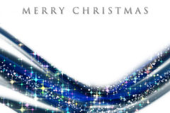 Fantastic Christmas wave design. With snowflakes and glowing stars Royalty Free Stock Photos