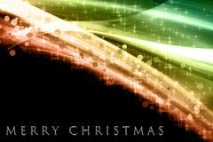 Fantastic Christmas wave design Stock Photos