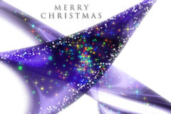 Fantastic Christmas wave design. With snowflakes and glowing stars Stock Photo