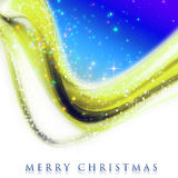 Fantastic Christmas wave design. With snowflakes and glowing stars Stock Photography