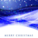 Fantastic Christmas wave design. With snowflakes and glowing stars Royalty Free Stock Images