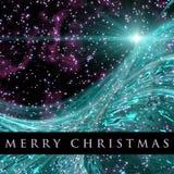 Fantastic Christmas wave design Stock Image