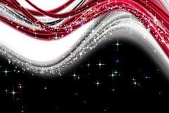 Fantastic Christmas wave design Royalty Free Stock Image