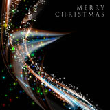 Fantastic Christmas wave design Stock Images