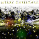 Fantastic Christmas wave design stock image
